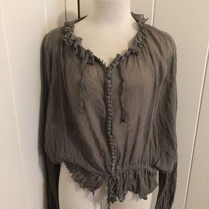 Kate moss top shop silk blouse